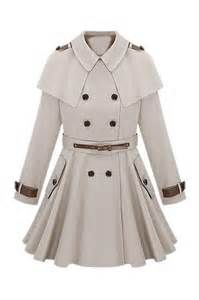 Cape Shoulder Epaulet Beige Trench Coat