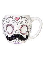 Home Decor - Sugar Skull Stache Mug