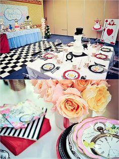 Image result for alice in wonderland party table