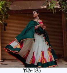 Ethnic soft silk chaniya choli with urban look printed navratri garba dandiya lehenga skirt crop top
