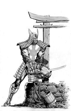 "cantstopthinkingcomics: ""Silver Samurai by Ibraim Roberson "" Epic Characters, Comic Book Characters, Gambit Cosplay, Kickass Comic, Silver Samurai, Dragon Comic, Samurai Artwork, Marvel Vs, Marvel Wolverine"