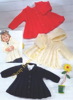 Vintage Knitting Pattern - Baby Toddler & Childs Hooded Coat and Collared Coat CHUNKY 12 ply for 0 m - 6 Years INSTANT DOWNLOAD [N134]: To purchase this pattern all you have to do is submit payment and it will be available for instant download. You will require Adobe reader to open this format, which is a free download from the Adobe website.