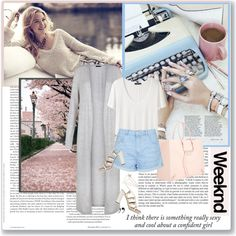 How To Wear Relaxed weekend look Outfit Idea 2017 - Fashion Trends Ready To Wear For Plus Size, Curvy Women Over 20, 30, 40, 50
