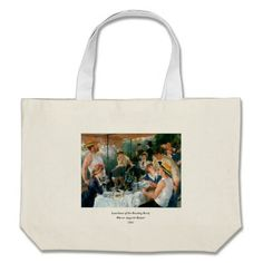 Shop Renoir's Luncheon of the Boating Party Large Tote Bag created by MasterpieceGallery. Large Canvas Tote Bags, Renoir, Boating, Design Your Own, Reusable Tote Bags, Party, Gifts, Presents, Fiesta Party