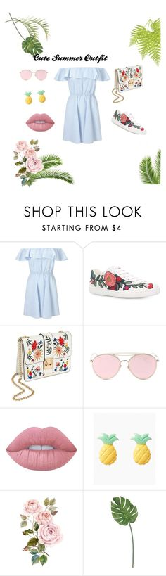 A fashion look from August 2017 featuring petite sundresses, gucci shoes and handbags crossbody. Browse and shop related looks. Cute Summer Outfits, Gucci Shoes, Cross Body Handbags, Lime Crime, Miss Selfridge, Fashion Looks, Polyvore, Shopping