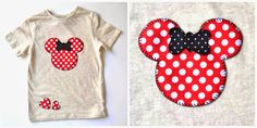 three t-shirts with appliques, the garden in spring and bracelets