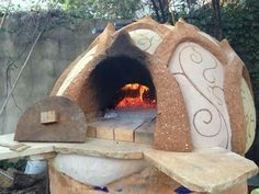 Chimeneas hornos de barro y piedra parrillas bbq y fogones on pinterest rocket stoves - Chimeneas de barro ...