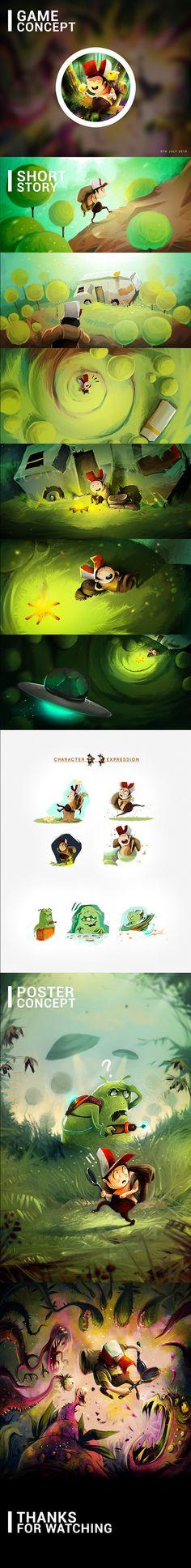Game Concept  by Afanur Rashid, via Behance