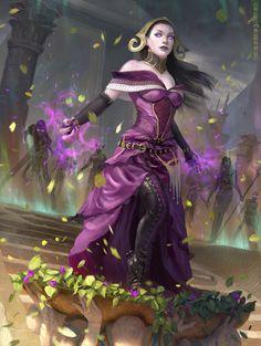 Liliana, Death Wielder MtG Art from Amonkhet Set by Clint Cearley Monster Characters, Fantasy Characters, Female Characters, Dnd Characters, Character Concept, Character Art, Character Design, Concept Art, Character Ideas