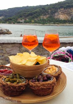 A Spicy Perspective Aperol Spritz - A Spicy Perspective. Photo: Love this idea for serving guests.