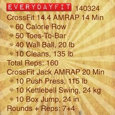 #EveryDayFit 140324 #CrossFit #wod #workout