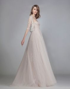 Sweetheart A-Line Wedding Dress  with Empire Waist in Tulle. Bridal Gown Style Number:33457375