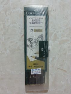 Faber-Castell 9000 Graphite Sketch Pencil Sets Art 8B - 2H set of 12, 6.7 USD