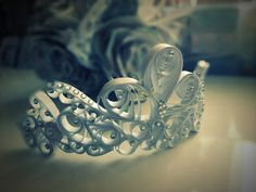 Quilled Wedding Tiara:  Magic On The Rox