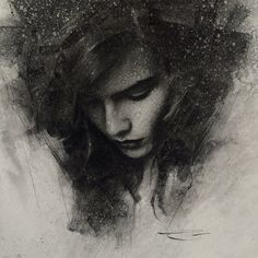 Incredible of realism work by Casey Baugh | #chacoral #drawing #portrait
