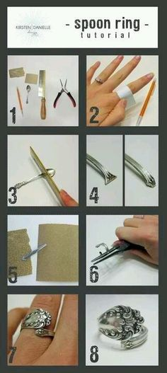 How to make a ring out of a silver spoon.