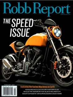 Robb Report Magazine February 2017 KEANU REEVE'S Motorcycle, Ducati 1299 - NEW