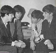 Paul McCartney. George Harrison, John Lennon, and Richard Starkey