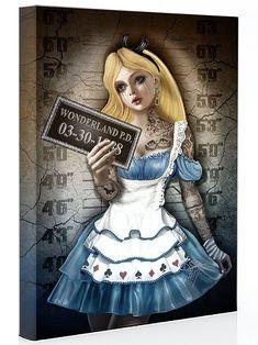 Alice In Wonderland Dark Madness Disney mugshot prison jail Disney Kunst, Disney Art, Disney Movies, Alice Disney, Disney Characters, Cartoon Kunst, Cartoon Art, Disney Tattoos, Punk Disney Princesses