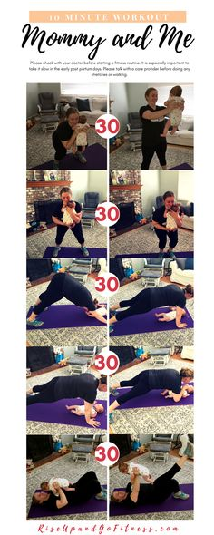 Quick Mommy and Me Workout. Make time to strengthen your body even if you have kids.