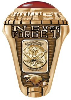 Marine Corps Ring custom made for Marines of served during Operation Endurig Freedom in Afghanistan. The ring can be completely personalized on both sides with dates of service, embelms realted to your service and your name. Military Gifts, Military Police, Usmc Ring, Us Navy Rings, Marine Corps Rings, Army Rings, Freedom Rings, Expensive Rings, Rings Online