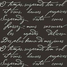 French Poem Craft Stencil- Stencils for furniture and crafts, fabric stencils, stencils for DIY decor