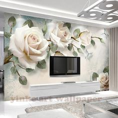 Floral Wallpaper Cream Rose Wall Mural Look Photo Nordic .- Floral Wallpaper Cream Rose Wall Mural Look Photo Nordic Flower Wall Print Living Room Bedroom Entryway Cafe Design Floral Wallpaper Cream Rose Wall Mural Photo Nordic Flower 3d Wallpaper Mural, 3d Wall Murals, Modern Wallpaper, Photo Wallpaper, Rose Wallpaper, Wallpaper For House, Wallpaper In Bedroom, Cheap Wallpaper, Paper Wallpaper