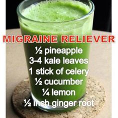 Migraine Reliever - pineapple, kale, celery, cucumber, lemon & ginger root