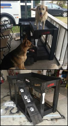 Got more than one fur baby in the household? Make a DIY dog bunk bed for them! No matter how they treat each other, they always deserve to have their own, 'personal space'. :)
