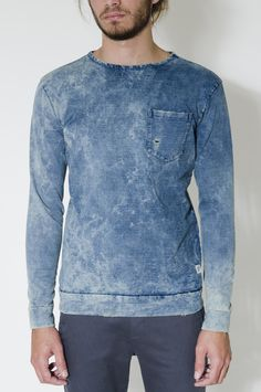indigo 80s sweatshirt, cotton project.