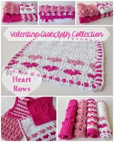 Crochet Valentine Dishcloth This Heart Pattern is so pretty and Perfect for Valentine's Day! Enjoy this Crochet Valentine Dishcloth Pattern by 5 Little Monsters! Click on the Link for the Pattern, ...