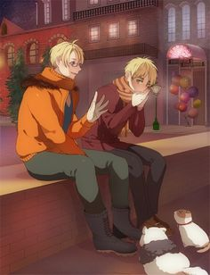 It's cold by x - Nekotalia - Hetalia - America / England