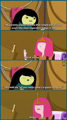 love adventure time, need more shows like this. I love adventure time, need more shows like this.I love adventure time, need more shows like this. Funny Cartoon Quotes, Funny Cartoons, Funny Memes, Funny Videos, Adventure Time Quotes, Adventure Time Anime, Adventure Time Marceline, Adventure Awaits, Geeks