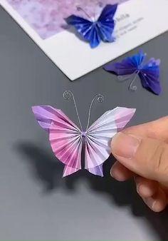 Paper Flowers Craft, Paper Crafts Origami, Paper Crafts For Kids, Flower Crafts, Paper Crafting, Origami Flowers, Flower Diy, Diy Flowers, Origami Hearts
