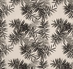 Lula Fabric's Palmfrond in Charcoal / Grey LF166