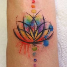 Tiny tiny lotus on the wrist  thanks again guys it was a pleasure! #watercolour #sketchytattoo #watercolour #lotustattoo #chakra #chakratattoo #wristtattoo