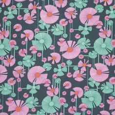 Stoff Blumen - Amy Butler - Serie Glow - Wind Flower Berry - ein Designerstück von pepelinchen bei DaWanda