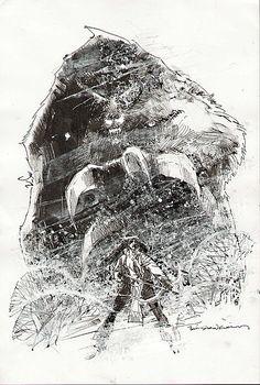 Danielle Moonstar & the Demon Bear - Illustration by Billl Sienkiewicz