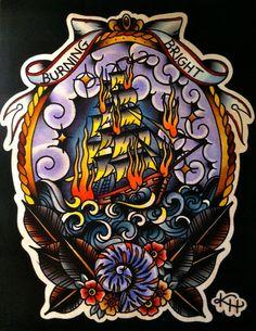 Burning Bright print. $15.00 via Etsy.   Art¦ F l a s h ...