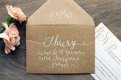 Oh So Beautiful Paper: Margaux + Fuad's Rustic French Wedding Invitations Handwritten Wedding Invitations, Laser Cut Wedding Invitations, Wedding Invitation Cards, Wedding Stationery, Map Invitation, Baby Shower Invitation Cards, Invitation Design, Invites, Envelope Lettering