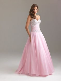 'Taffeta and Tulle Sweetheart Pink A-Line Long Prom Dress' On, my. I just love this dress <3