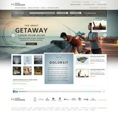 #Webdesign inspiration for Hilton hotel 83oranges.com