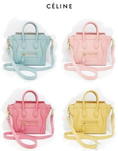 Sherbet Coloured Céline Bags