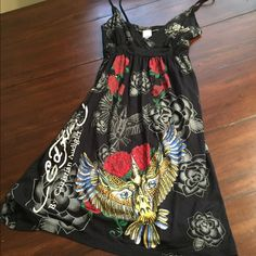Ed Hardy Dress Like new. Cute for the summer! 32