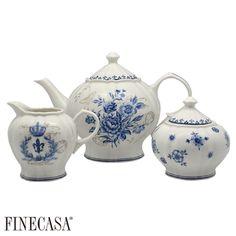 Bule de Chá, Açucareiro, Cremeira Oriental Manor FINECASA
