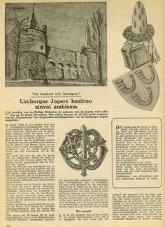Article in Dutch about the symbols in the badge of the Regiment Limburgse Jagers.