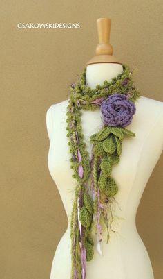 Queen Ann Rose LariatLavender by gsakowskidesigns on Etsy, $43.00: