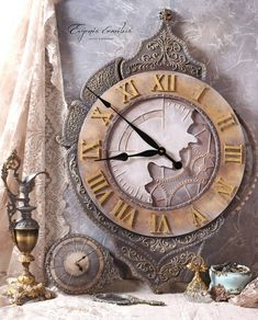 VK is the largest European social network with more than 100 million active users. Altered Books, Decoupage, Craft Projects, Sculptures, Photo Wall, Clock, Bottle, Handmade, Inspiration