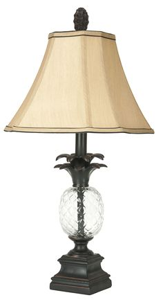 Safavieh Alanna Glass Pineapple Lamp, Black