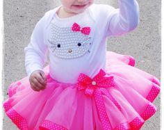 Hello Kitty Birthday Tutu Set, Girls Personalized Hello Kitty Birthday Tutu Outfit Hello Kitty,1st Birthday Hello Kitty dress